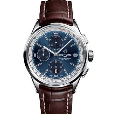 breitling premier chronograph 42 acero esfera azul