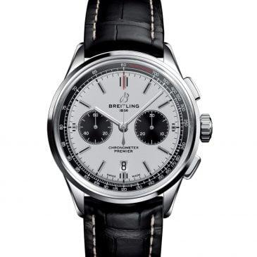 breitling premier chronograph 42 acero piel negra