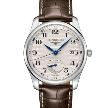 longines master collection 40 acero piel