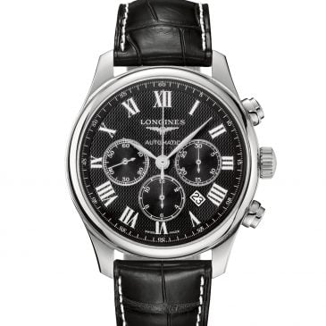 longines master collection 44 acero piel