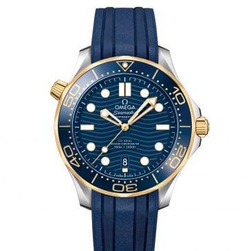 omega seamaster diver 300m 42 acero/oro esfera azul