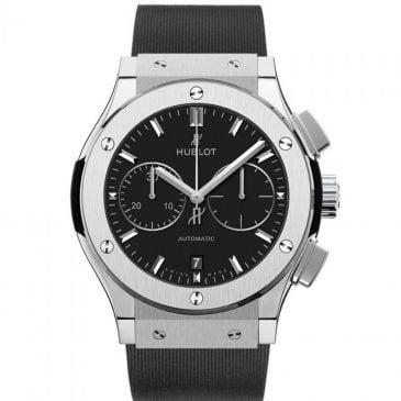 hublot classic fusion black chronograph titanium 45