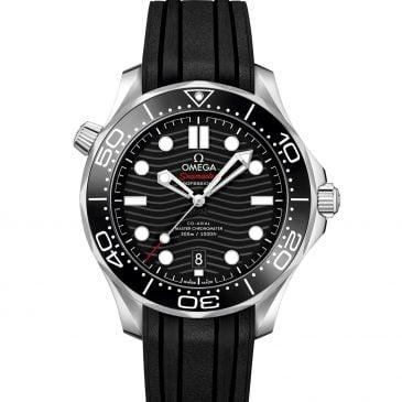 omega seamaster diver 300m 42 acero caucho negro