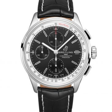 breitling premier chronograph 42 Steel leather black case