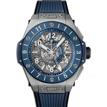 hublot big bang unico titanium blue ceramic 45