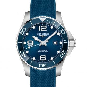 longines hydroconquest 43 azul caucho