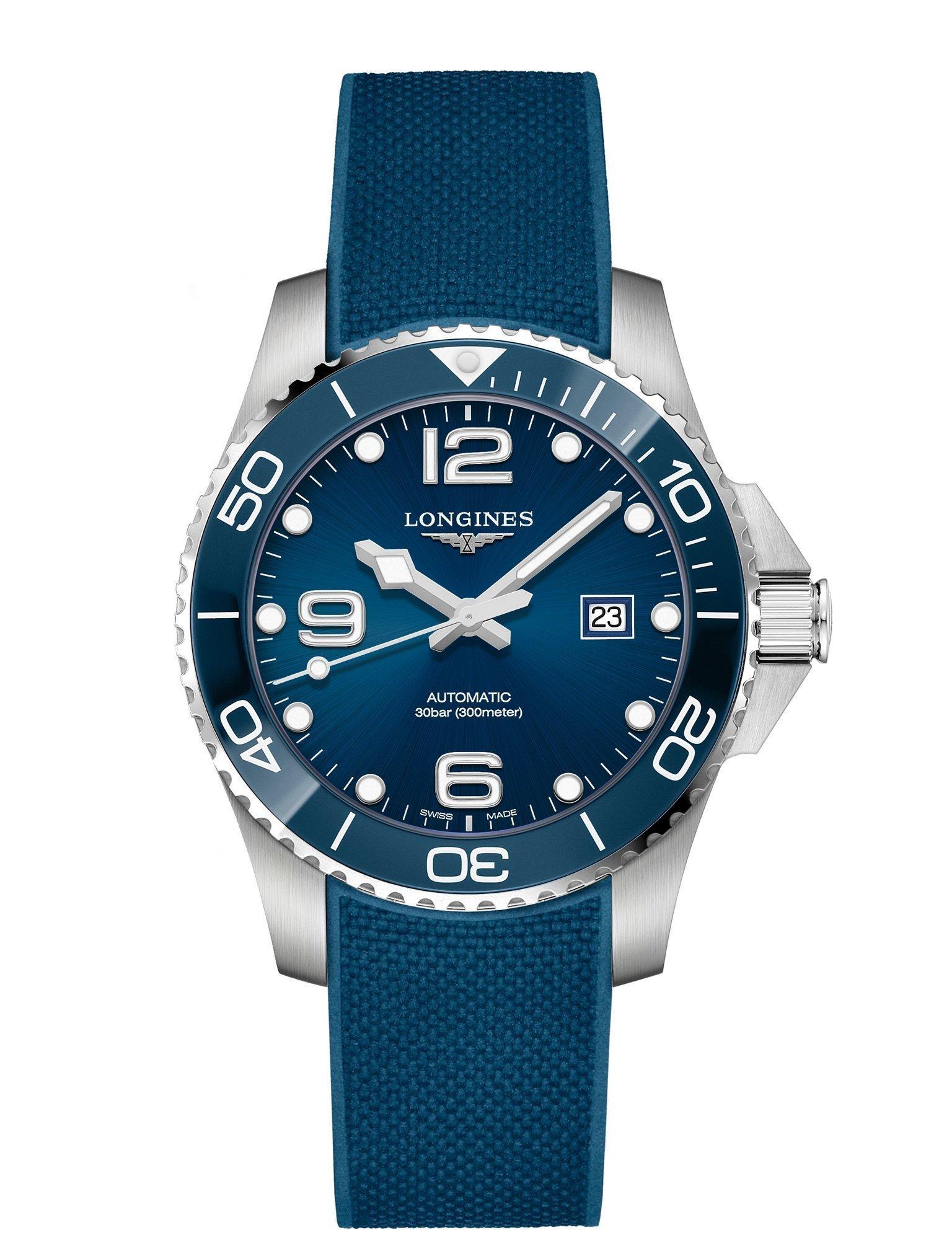 Caucho Hydroconquest Hydroconquest Longines Longines 43 Azul 43 Azul Caucho TlJc3FK1