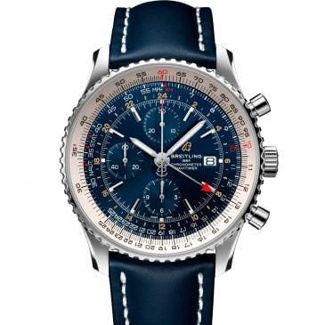 breitling navitimer chronograph gmt 46 azul