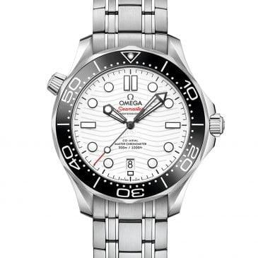 omega seamaster diver 300m 42 blanco acero