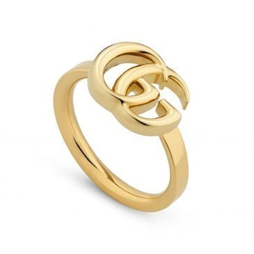 gucci anillo doble g de oro amarillo