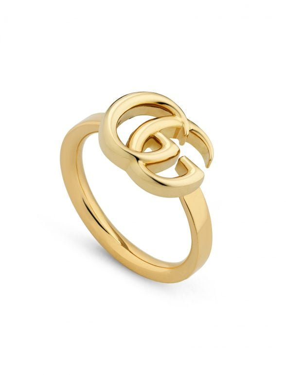 gucci anillo doble g de oro amarillo