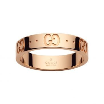 gucci anillo icon oro rosa