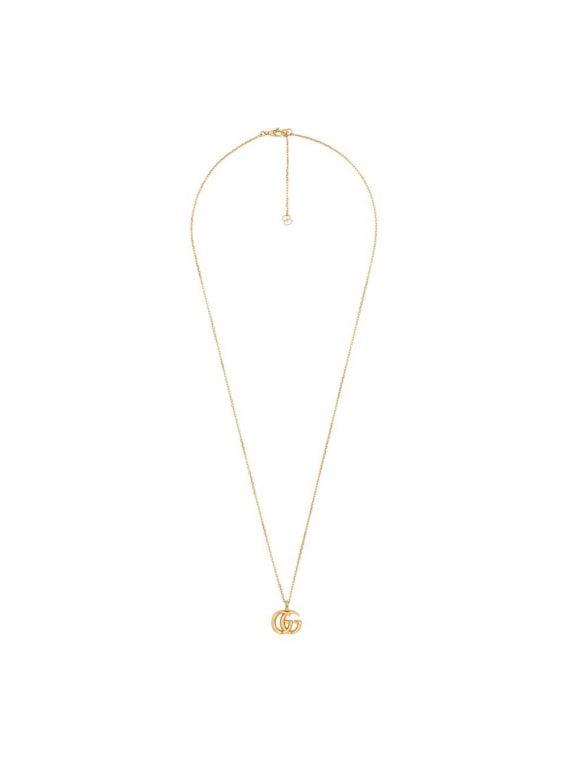 gucci collar de oro amarillo con doble g