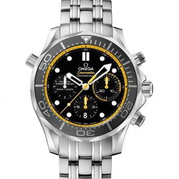 omega seamaster diver 300m 44mm regatta negro chronograph acero