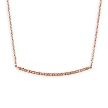 colgante oro rosa y diamantes