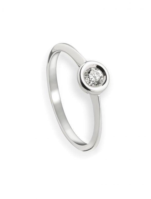 anillo solitario diamante chatón