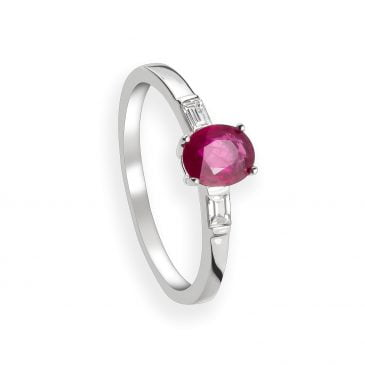anillo oro blanco rubí y diamantes (copia)