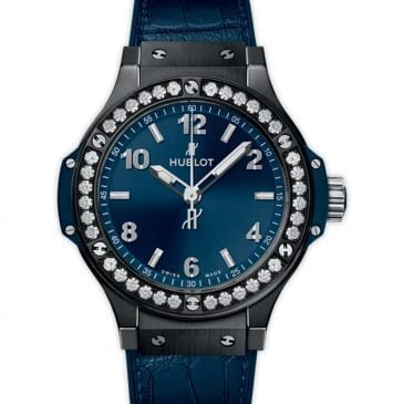 hublot big bang ceramic azul 38 mm bisel de diamantes