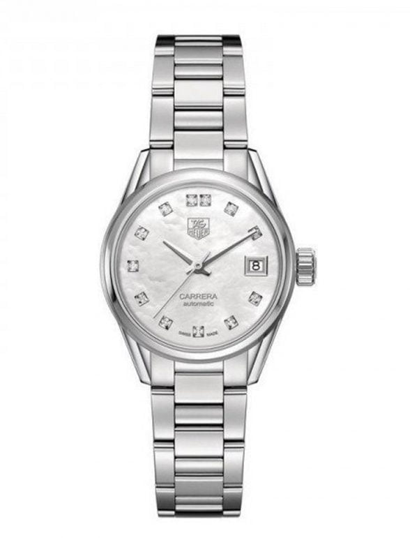 Tag Heuer Carrera 28 mm Automatic Steel White dial WAR2414.BA0776