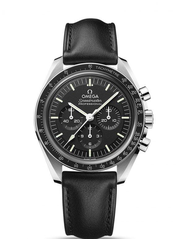 omega speedmaster moonwatch 42 cristal zafiro piel nuevo 2021