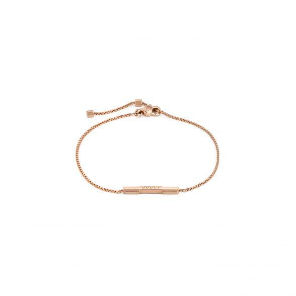 gucci pulsera link to love oro rosa