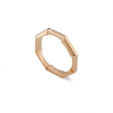 Gucci Link to Love mirrored ring Rose Gold