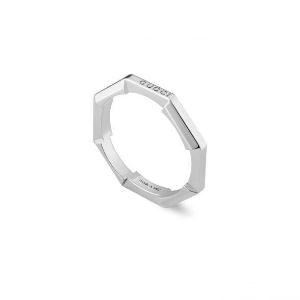 Gucci Link to Love Ring mit Spiegel-Finish Weißgold