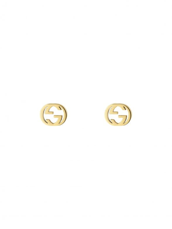 GUCCI Interlocking G gold earrings