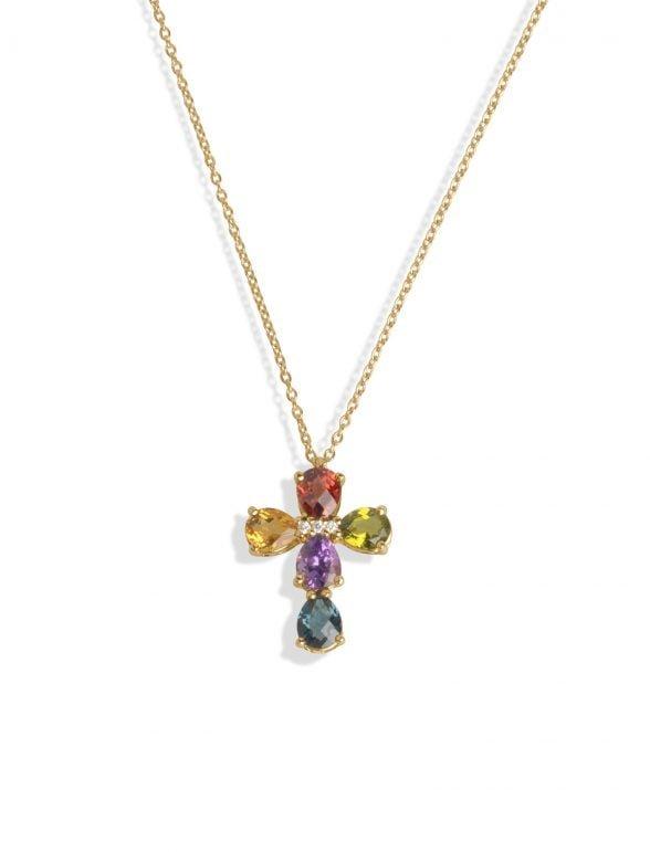 joyería marcos en oro rosa con london, citrino, granate y peridoto (copia)
