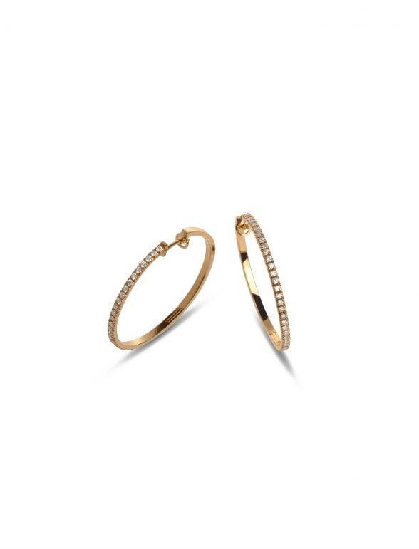 collar joyería marcos en oro rosa con 60 brillantes gsi 0,54 cts