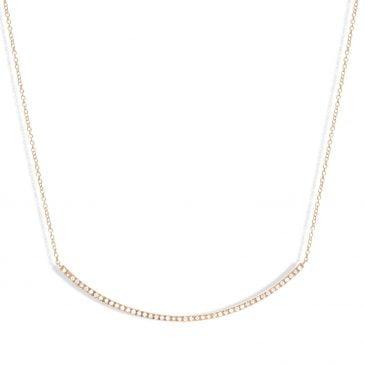 collar joyería marcos en oro rosa con 46 brillantes gsi 0,19 cts